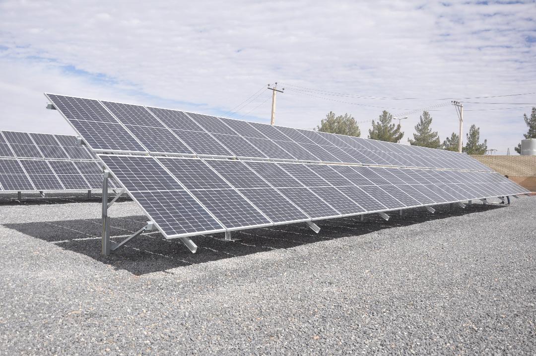مراسم افتتاحیه نیروگاه خورشیدی شرکت مهندسی بین المللی فولادتکنیک