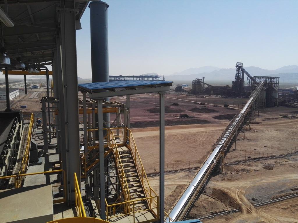 پروژه: خط انتقال مواد کارخانه گل گهر