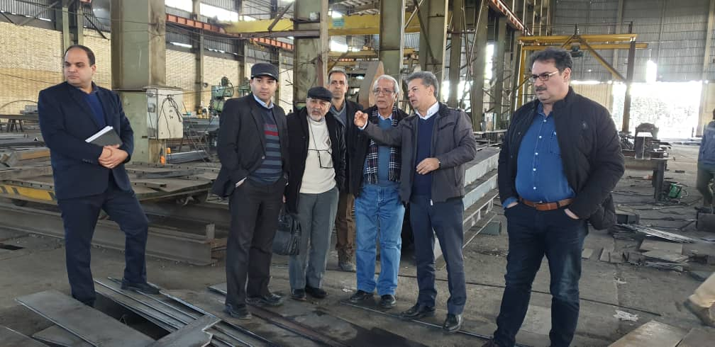 بازدید مدیریت عامل شرکت پرشیا فلز از خط تولید شرکت متک